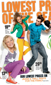 Kohl's Add shows bright pants